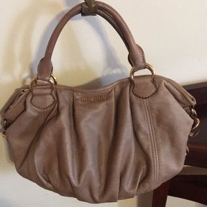 MiuMiu leather handbag